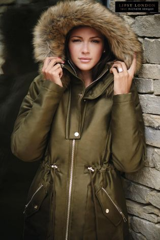 Buy Michelle Keegan Faux Fur Trim Parker from the Next UK online shop