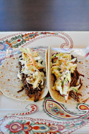 Southwestern Brisket Tacos with Chipotle Slaw