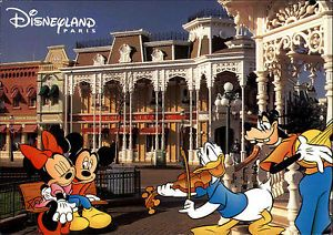 mickey mouse disneyland 1997 | Disneyland-Paris-Euro-Disney-Mickey-Mouse-Donald-Duck-Figuren-Main ...