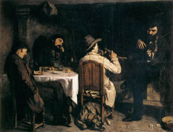 Gustave Courbet - After Dinner at Ornans - see more on http://makeyourideasart.com