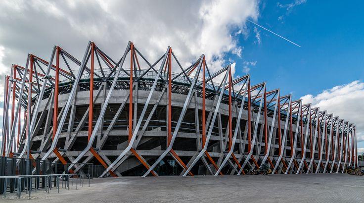 "https://flic.kr/p/oULXgH | Bialystok Municipal Stadium | Stadion Miejski w Białymstoku - Bialystok Municipal Stadium  Category: stadium Location: Białystok, Poland Built: 2010-2014 Total capacity: 22,500 Architects: Kuryłowicz & Associates (Warsaw, Poland)   <a href=""http://www.facebook.com/MLFotArch"" rel=""nofollow"">facebook</a>    <a href=""http://foto-ml.pl"" rel=""nofollow"">foto-ml.pl</a>  <a href=""http://instagram.com/mlulko"" rel=""nofollow"">instagram</a>  <a…"