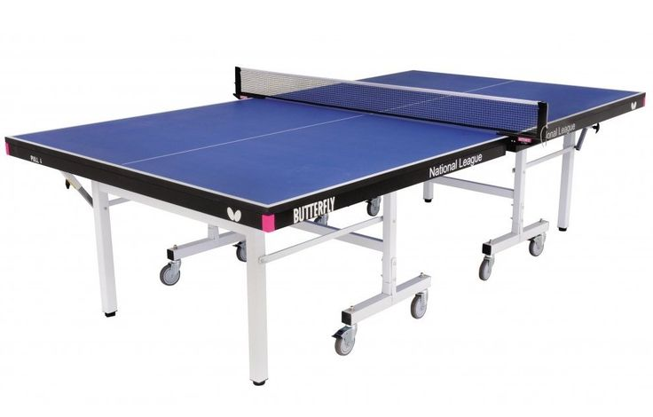 Butterfly National League 25 Rollaway Table Tennis: A 25mm Butterfly match top is combined with the 8 wheel… #fitnessequipment #homegym