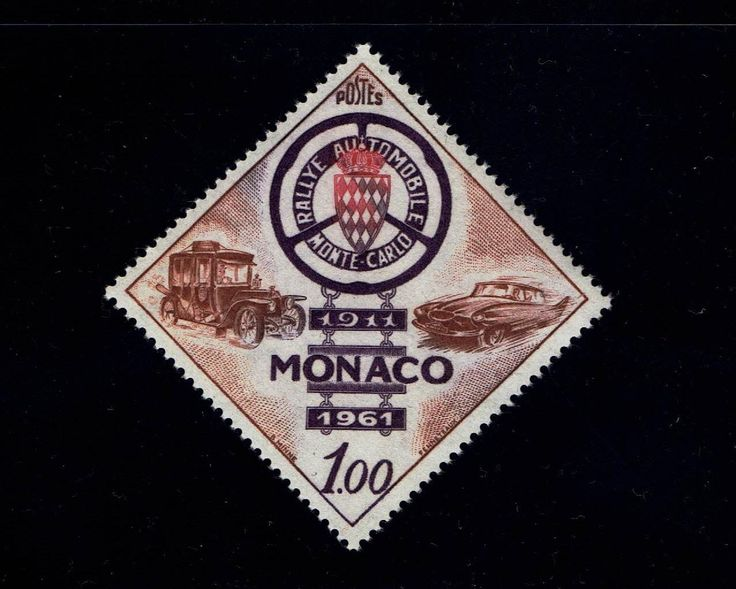 Monaco 484 50th Anniversary Monte Carlo Auto Rally Jun 3, 1961 MNH lot #mnc484-1 by VicsStamps on Etsy