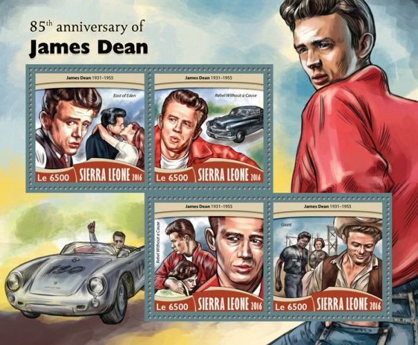 """SRL16718a 85th anniversary of James Dean (James Dean (1931–1955), """"East of Eden""""; """"Rebel Without a Cause""""; """"Giant"""")"""