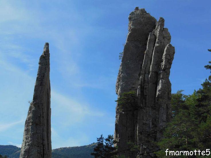 Les Sucettes de Borne dans le Diois, Vercors. Curiosité géologique.