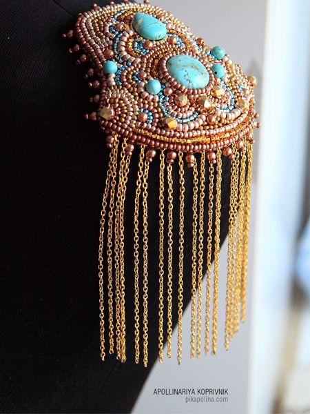 #epaulets #beads #turquoise
