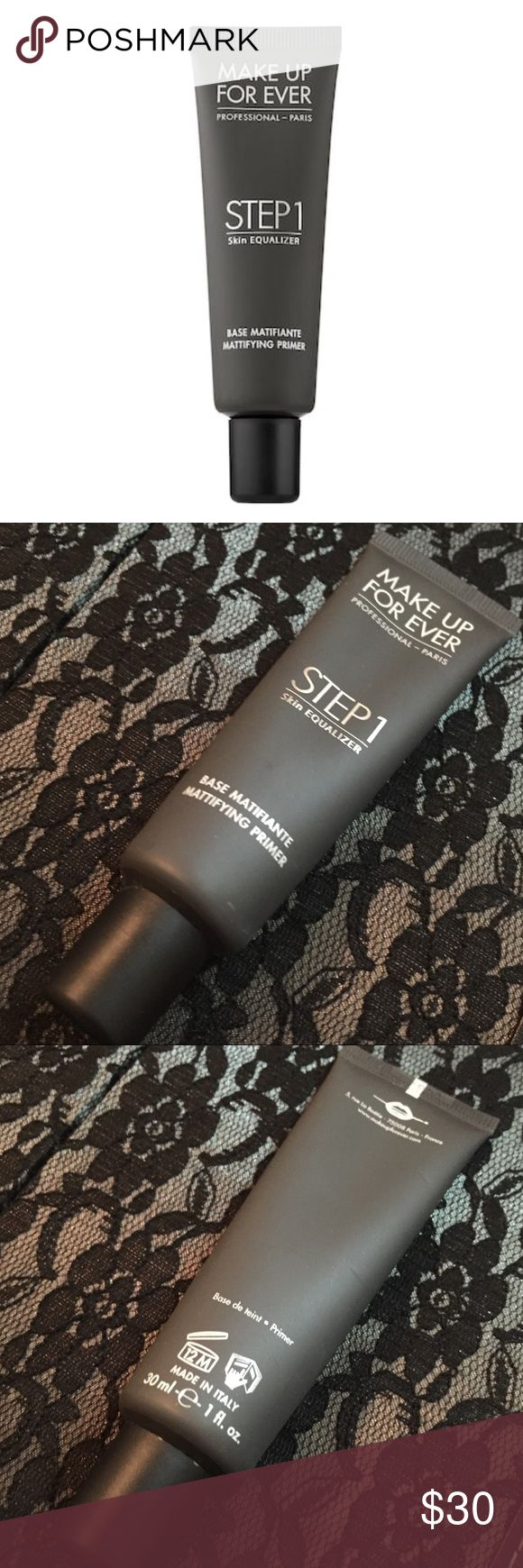 Makeup Forever Step 1 Equilizer primer Authentic. Bought from Sephora. A makeup primer that assists with balancing the skins texture & tone for a smother, and more even, and long- lasting makeup wear. Used twice. Basically brand New. Open to reasonable offers, just use the offer button✅ No lowballing🚫  ⭐️5 STAR SELLER & FAST SHIPPER📦💨         💕Shop with Confindence💕 Makeup Forever Makeup Face Primer