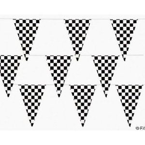 $9.00 100 Ft Checkered Flag Banner Pennant Car Racing Party