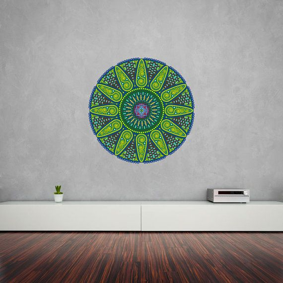 Geometric Sunshine Mandala Vinyl Wall Art by VinylRevolution, £19.99