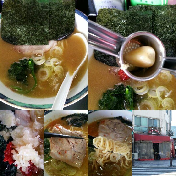 ラーメン田島家 久里浜店は横須賀市、神奈川県にあります 口未口曽ラーメソ w/ crushed garlic yummy