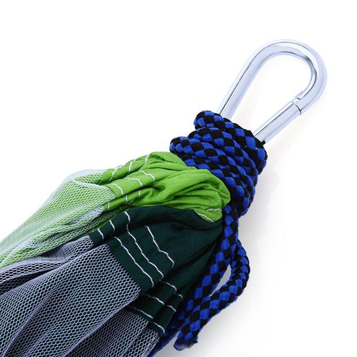 Многоцветный Гамак Путешествия Кемпинг Один Человек Гамак Портативный Парашют Ткань Москитная сетка Гамак для Внутреннего и Наружного Использования