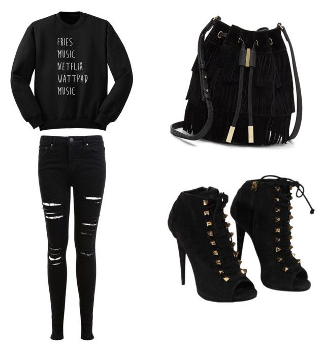 Black ink only by lifebybya on Polyvore featuring polyvore, fashion, style, Miss Selfridge, Giuseppe Zanotti, Vince Camuto and clothing