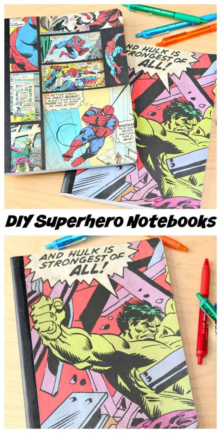Superheld #Notebooks # {Back #to #School #Craft #Idea} #A – Back To School