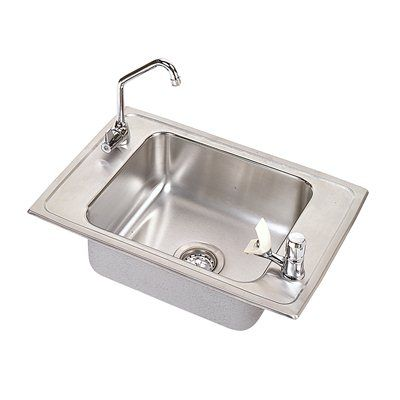 Elkay PSDKRC2517C Pacemaker Single Bowl Classroom Package Commercial Sink