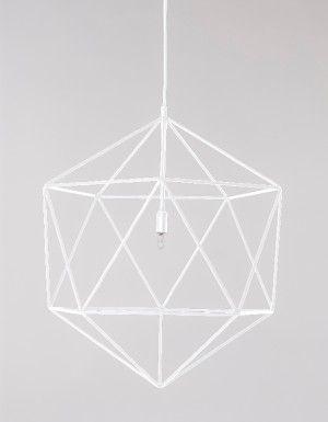Lampa wisząca Gem - biała