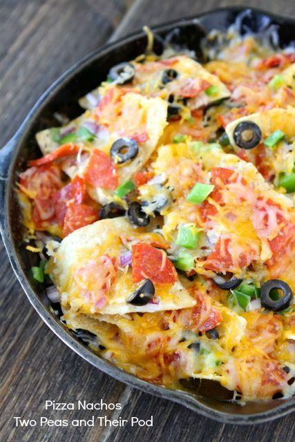 Pizza Nachos from www.twopeasandtheirpod.com #recipe #pizza #nachos