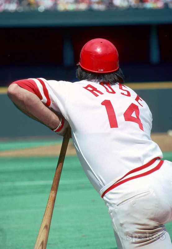 Pete Rose, didnt need to see the name on the shirt just the #.... share if you remember this man>>>><<<<