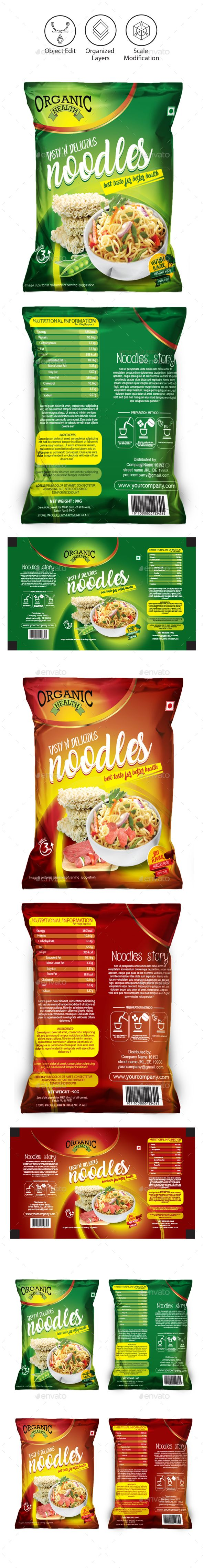 Noodles Packaging Templates — Vector EPS #mie #packaging • Download ➝ https://graphicriver.net/item/noodles-packaging-templates/18917516?ref=pxcr