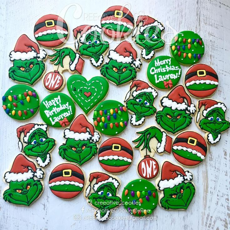"""""""Then the Grinch thought of something he hadn't before! What if Christmas, he thought, doesn't come from a store. What if Christmas...perhaps...means a little bit more!"""" --Dr. Seuss, How the Grinch Stole Christmas!  #creeativecookies #cookielove #christmascookies #christmassugarcookies #grinch #mrgrinch #grinchcookies #birthdaycookies #merrychristmas #merryxmas #sugarcookies #sugarart #sugarcookieart #decoratedcookies #cookiesofinstagram #cookielove #customcookies #customdecoratedcookies…"""