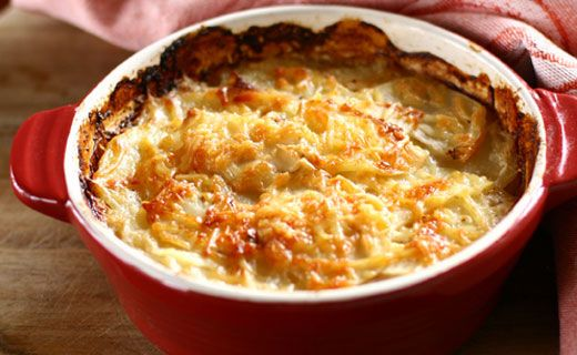 Potato Casserole with Cheese, Chives & Bacon