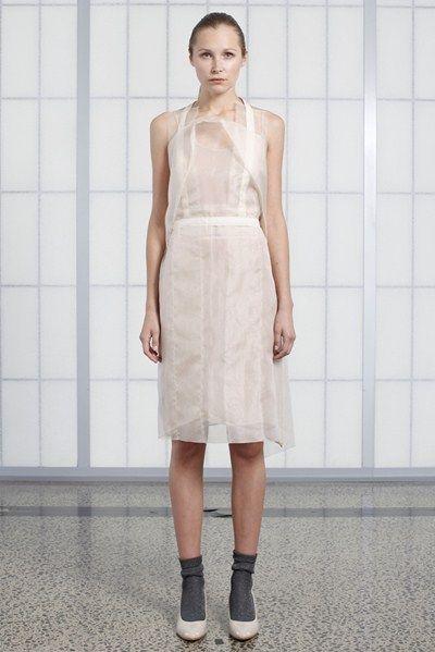 s/s 13/14 womens key looks - W09. apron in shell, dropside chemise in bone.