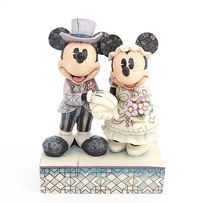 Love Figurines, Mickey, Minnie, Wedding Figurines