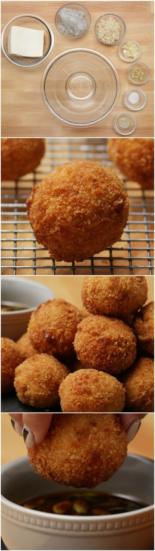Fried Tofu Shrimp Balls