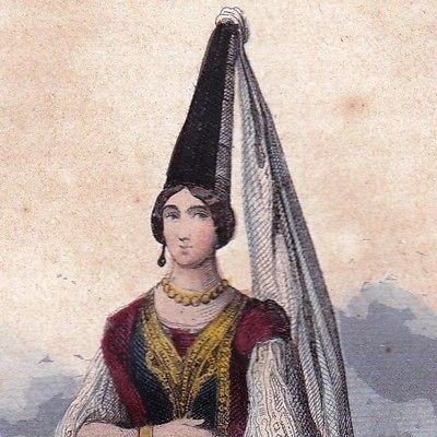 Gravure-Couleur-XIXe-Femme-Juive-Judaica-Judaisme-1846 Algérie Sépharade