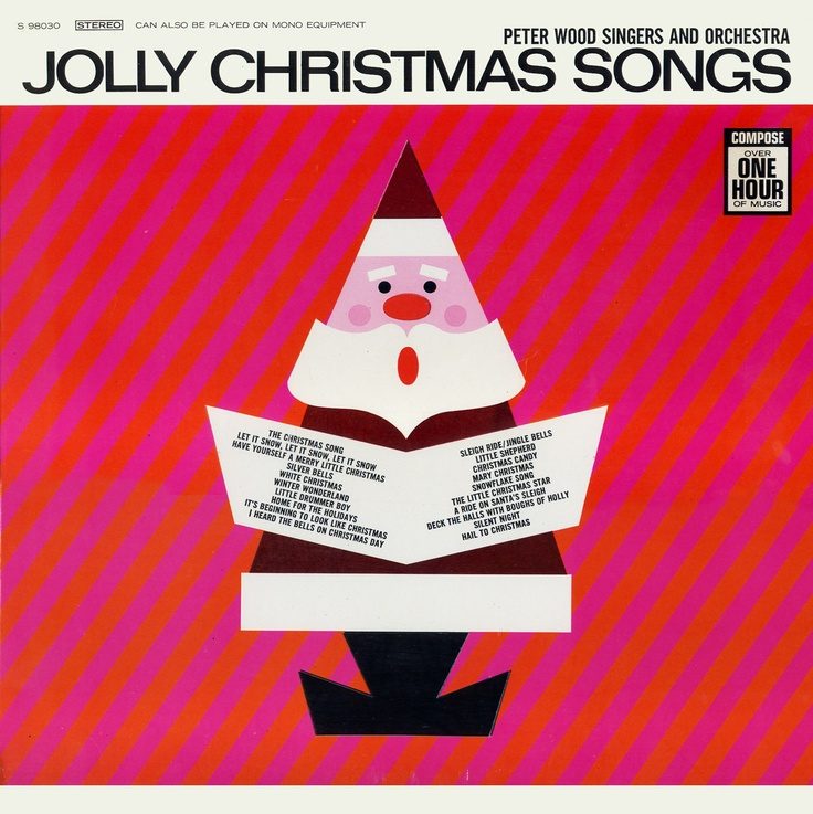 Old Christmas Tree Song Part - 33: Jolly Christmas Songs By The Peter Wood Singers. Thereu0027s A Cutout On The  Front Cover That Opens To A Christmas Tree In The Gatefold.