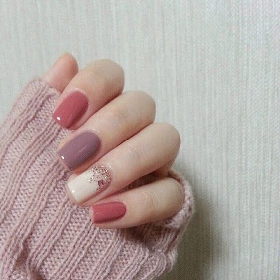 Pink | 22 Easy Fall Nail Designs for Short Nails