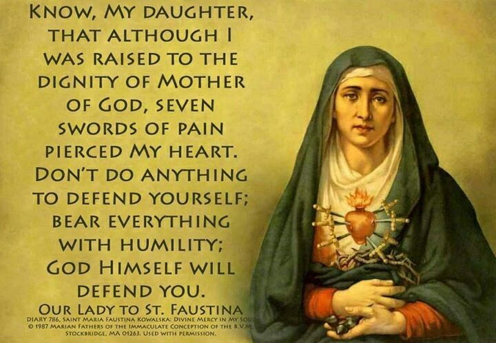 ~Our Lady to St. Faustina-- There's no reason to be afraid of vulnerability