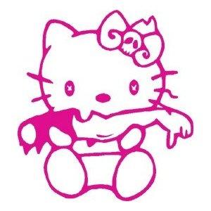 Hello Kitty Zombie Girl Pink Vinyl Decal Sticker