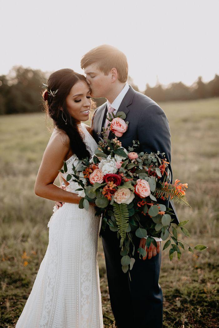 This Couple Aptly Described Their Kindred Barn Wedding As Baja Boho
