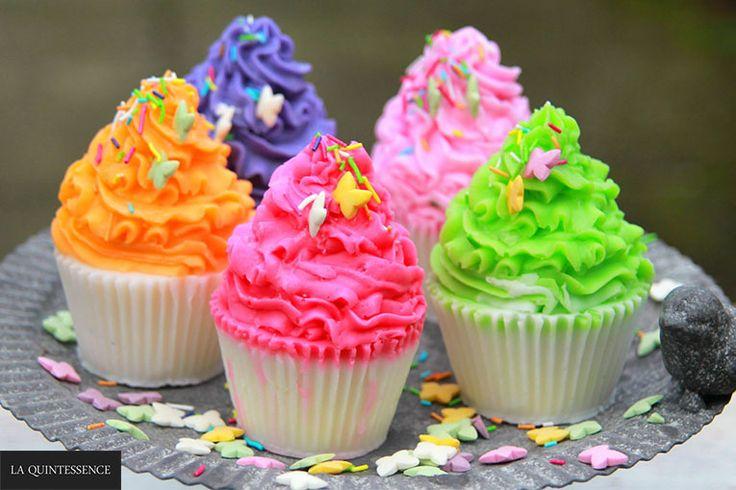 Mydlane muffiny - mydełka glicerynowe z masłem shea, masłem kakaowym i masłem mango. Bez dodatków SLS i SLES :)