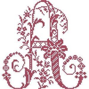 french floral cross stitch alphabet