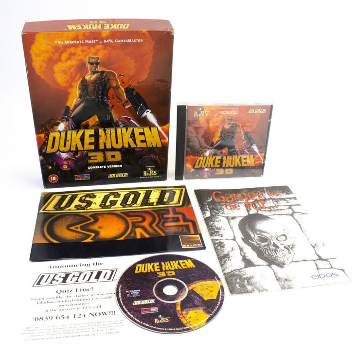 Duke Nukem 3D for PC by 3D Realms in Big Box, 1997, CIB, VGC