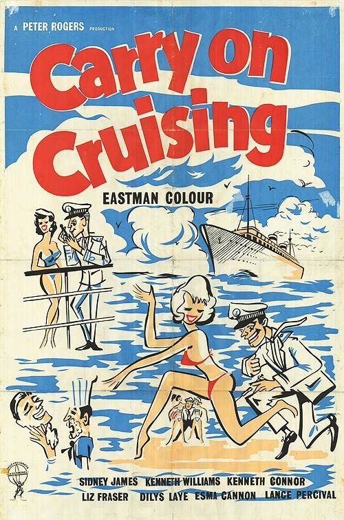 """Carry on Cruising"" (1962) Stars: Sid James, Kenneth Williams, Kenneth Connor, Liz Fraser"