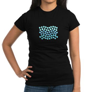 Polka Dots Waves Junior Jersey T-Shirt (dark)