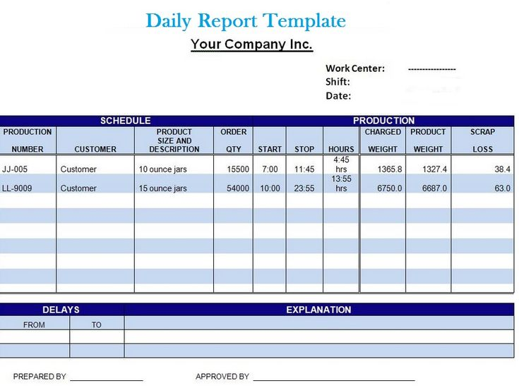 20+ Sample Daily Report Templates – PDF, DOC