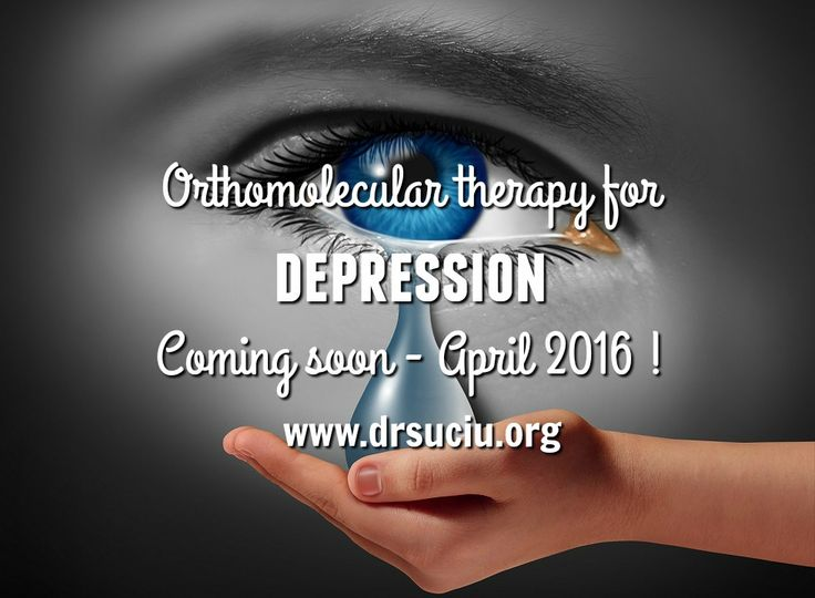 Orthomolecular therapy for depression -drsuciu