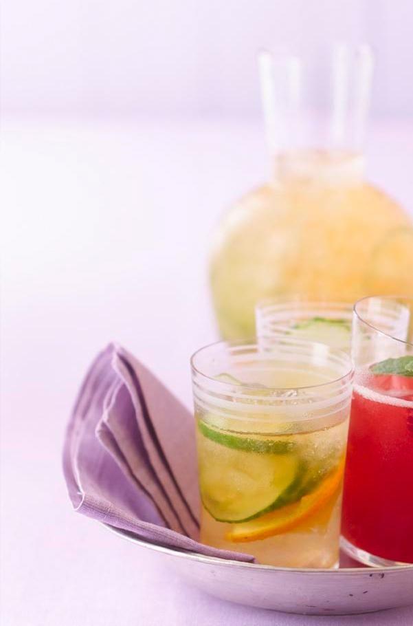 Rezept: Ingwertee mit Gurke und Orange