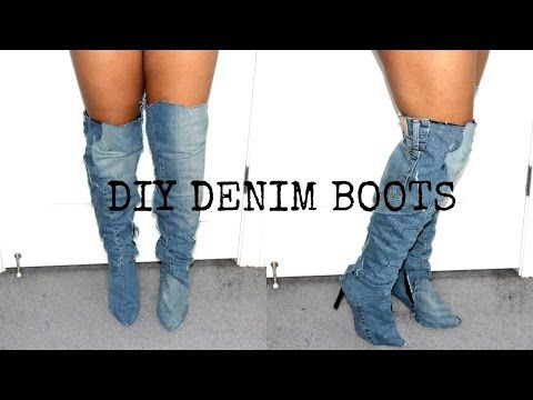 Diy Kim Kardashian Jean Boots - YouTube