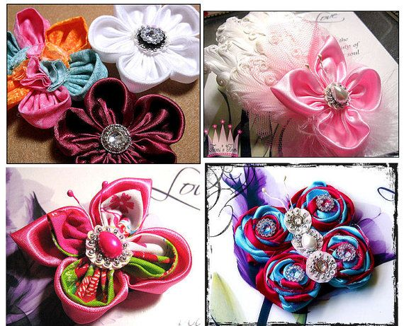 FABRIC Flower Tutorials   Butterfly  Roses  by tiarasnbows on Etsy, $8.00