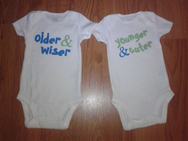 Baby Boy OR Girl Onesies For TWINS  Older by tiffanylynnwilliams, $15.00