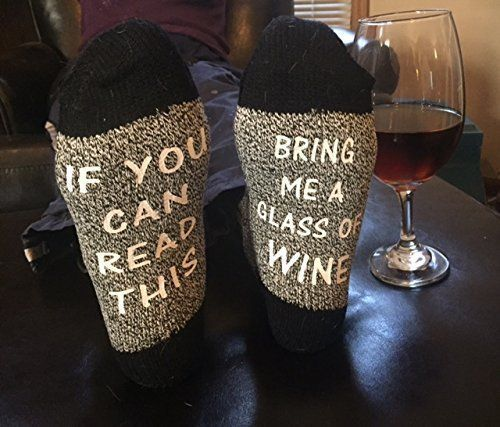 IF YOU CAN READ THIS BRING ME A GLASS OF WINE SOCKS , BEER, COFFEE, COCKTAIL - WINE SOCKS - Funny socks - WINE LOVERS - FUNNY SOCKS GIFT - SOCKS FOR CHRISTMAS - SECRET SANTA GIFT -FREE SHIPPING