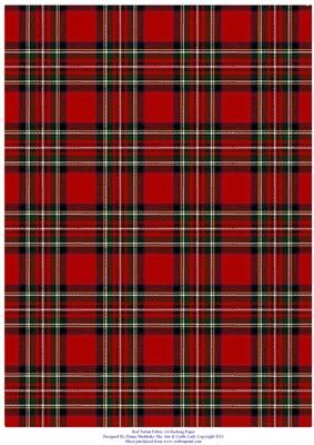 Red Tartan Effect A4 Backing Paper on Craftsuprint - Add To Basket!