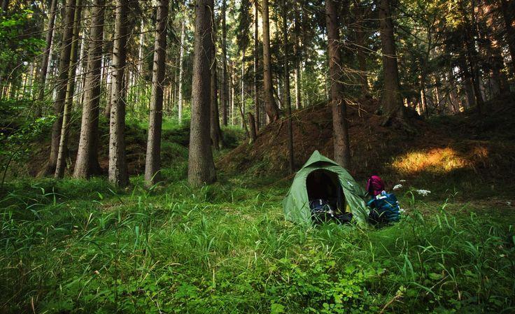 Wild camping. The best way to travel around the world.
