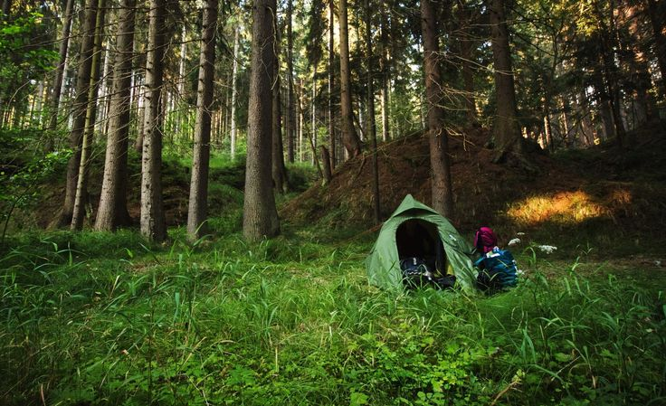 Wild camping. The best way to travel around the world.