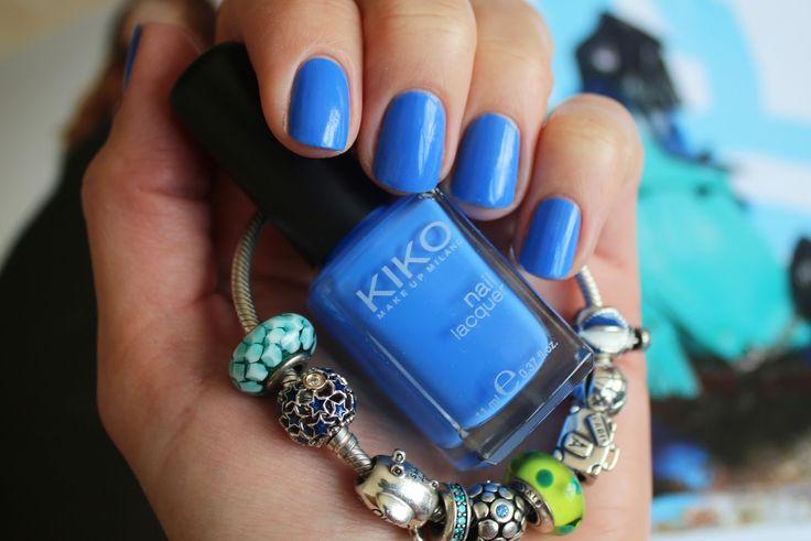 Синяя пастель Kiko Milano Nail Lacquer 385 Pastel Blue (Синий лак для ногтей и браслет Pandora в бирюзовый тонах) || Katrin from Berlin