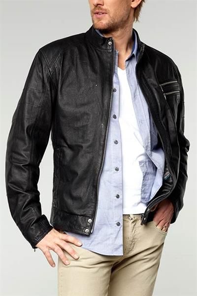 Кожаная куртка летняя мужская